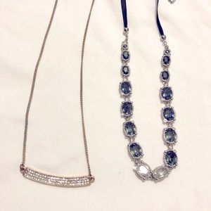 Two Choker Collar Necklaces.